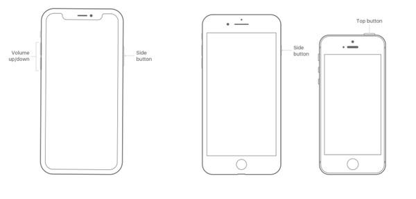 Forcer le redémarrage de l'iPhone
