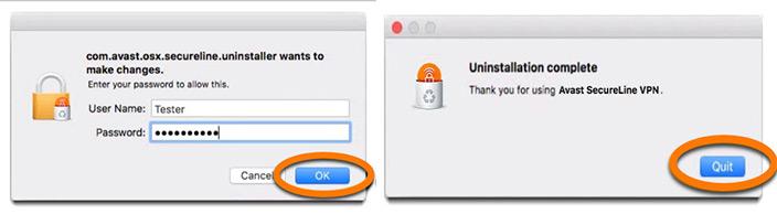 Disinstallare Avast SecureLine VPN
