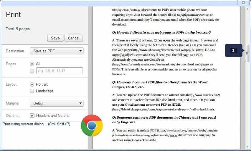 Salva come PDF