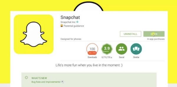 Λήψη του Snapchat
