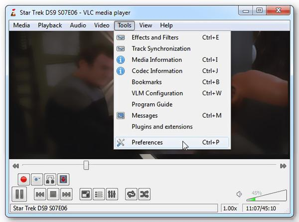 Preferenze VLC