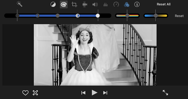 Φίλτρα iMovie Ασπρόμαυρο
