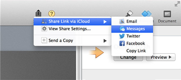 Condividi iMovie su iCloud