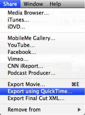 iMovie to iDVD with QuickTime