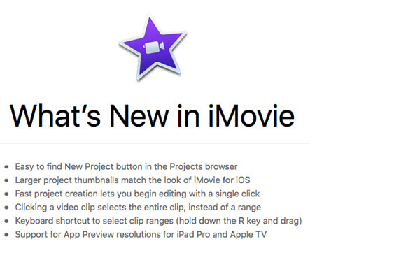 Νέα ενημέρωση iMovie