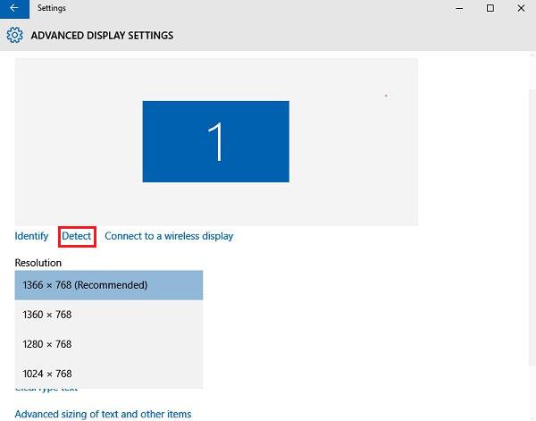 Εντοπίστε ανενεργή έξοδο βίντεο στα Windows 10