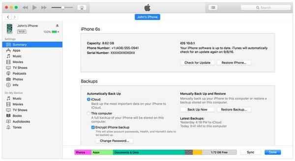Wykonaj kopię zapasową iPhone'a na komputerze