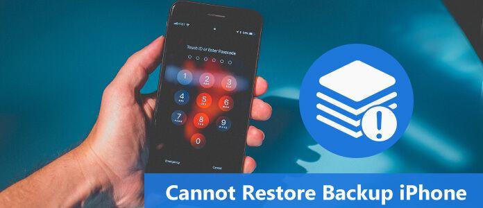 Impossibile ripristinare l'iPhone di backup