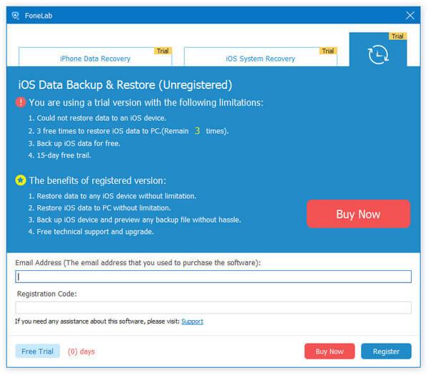 iOS Data Backup & Restore Registration