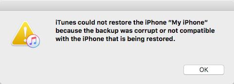 Ειδοποίηση iTunes για δημιουργία αντιγράφων ασφαλείας