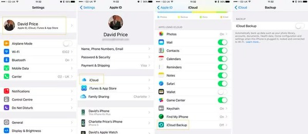 Manual Backup iPhone με το iCloud