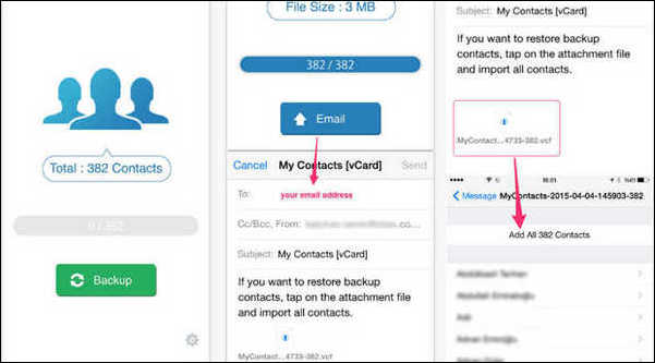 How to backup all my contacts on iphone