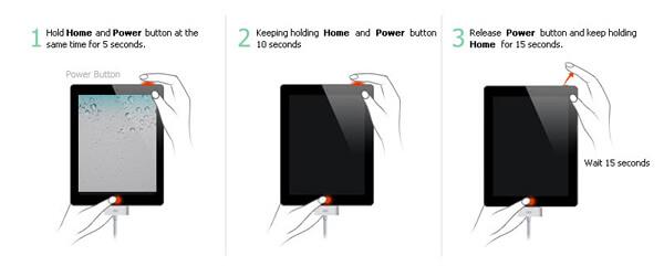 DFU λειτουργία iPad