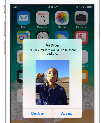 Αποδοχή φωτογραφιών στο iPhone
