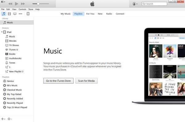 Collega l'iPad a iTunes