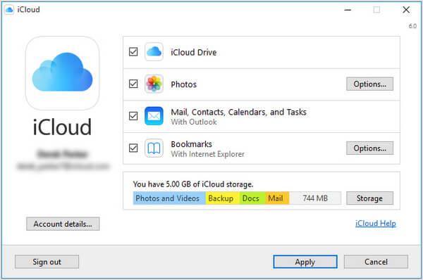 Scarica iCloud per PC