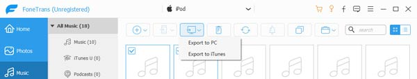 Export Music to iTunes Library
