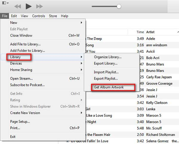 Ottieni illustrazioni per album su iTunes