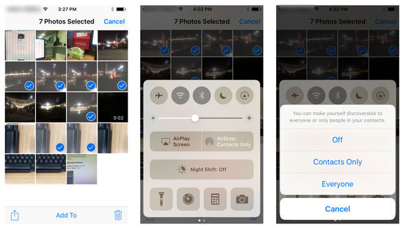 get off iPhone photos with AirDrop