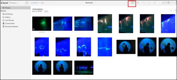Przesyłanie zdjęć z biblioteki iCloud