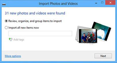 Importa foto da iPhone a PC per Windows 8
