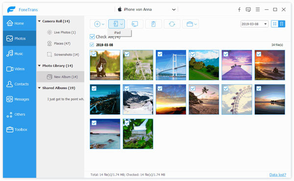 Export Photos to iPod