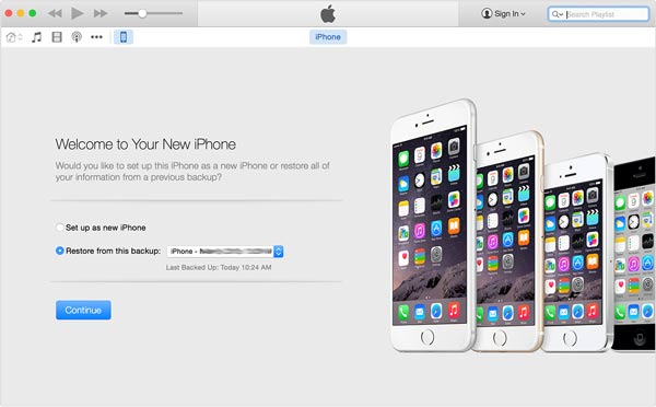 iTunes ha configurato un nuovo iPhone