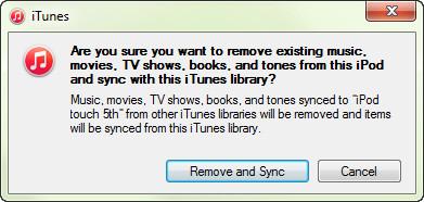 Synchronizuj z biblioteką iTunes