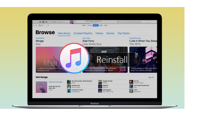how to delete and reinstall itunes