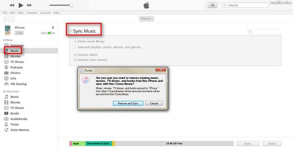 Przenieś muzykę na inny iPhone