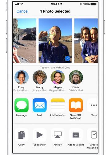 Επιλέξτε φωτογραφίες στο iPhone