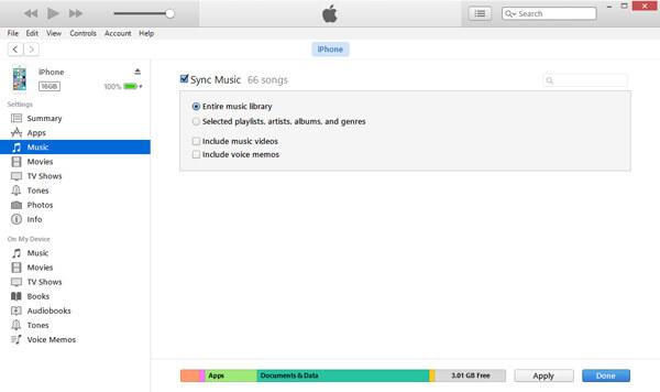 Synchronizuj bibliotekę muzyczną iTunes, aby usunąć utwory z iPhone'a