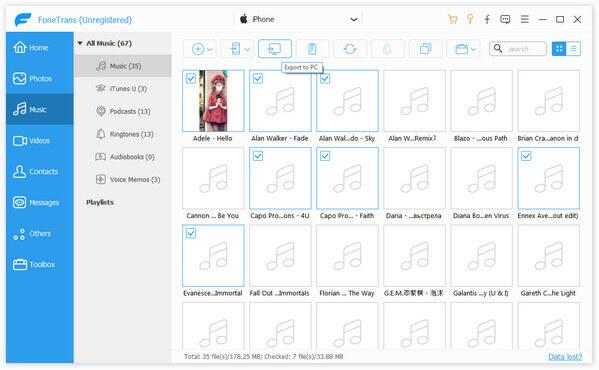 Synchronizuj muzykę z iPhone'a na komputerze