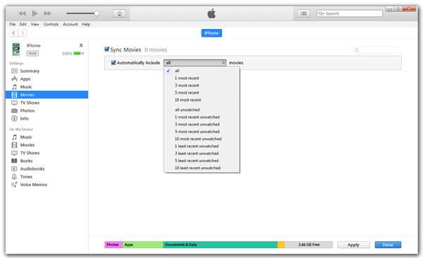 Συγχρονίστε το iPhone με το iTunes μέσω USB