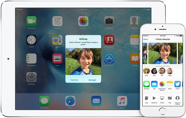 Sync iPhone with iPad through Airdrop