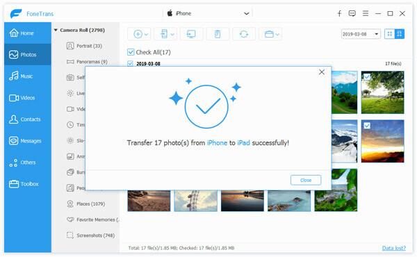 Synchronizuj zdjęcia z iPhone'a na iPada