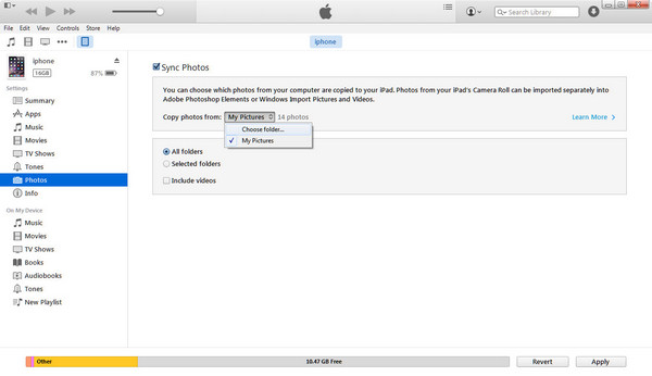 how to transfer music from download folder to itunes