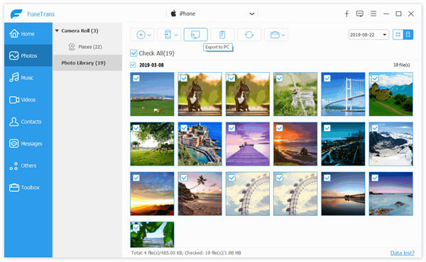 Get photos from iPhone with iPhone Photo Manager