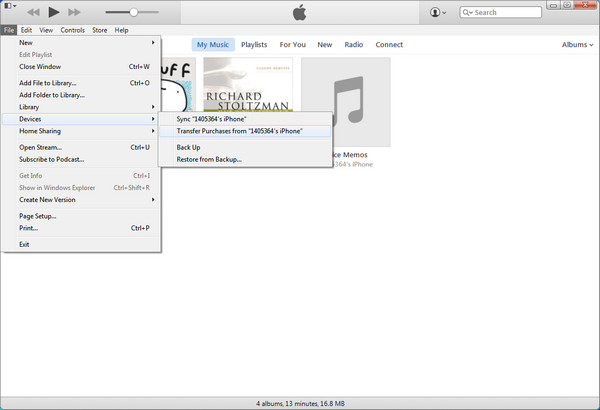 Transfer Purchases from iPhone to iTunes