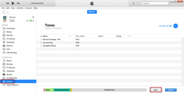 Transfer ringtones to new iPhone