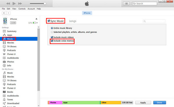 How to Sync Voice Memos from iPhone to Computer using iTunes