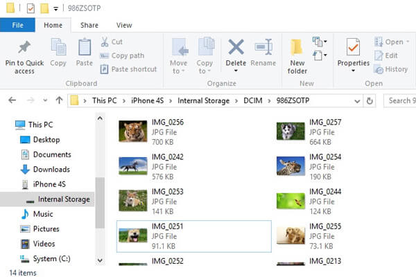 Scarica le foto da iPhone a PC con Esplora file di Windows