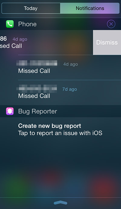 stretta notifica in iOS 8