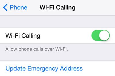 Κλήση Wi-Fi στο iOS 8