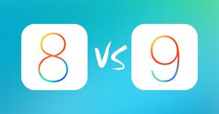 iOS 8 έναντι iOS 9