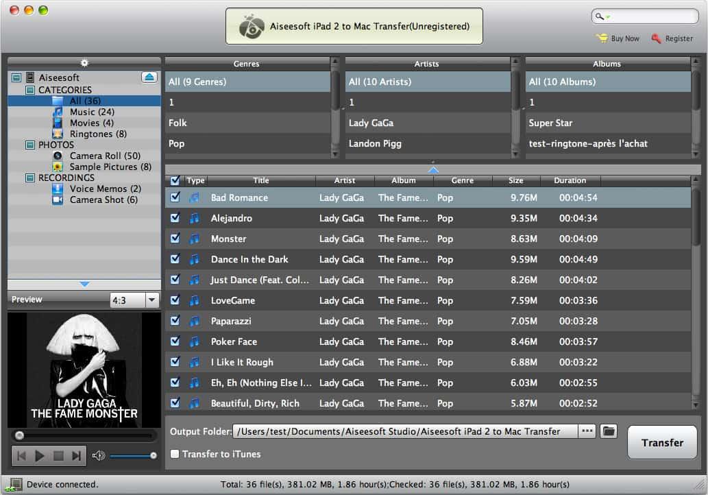 Aiseesoft iPad 2 to Mac Transfer 6.1.38 full