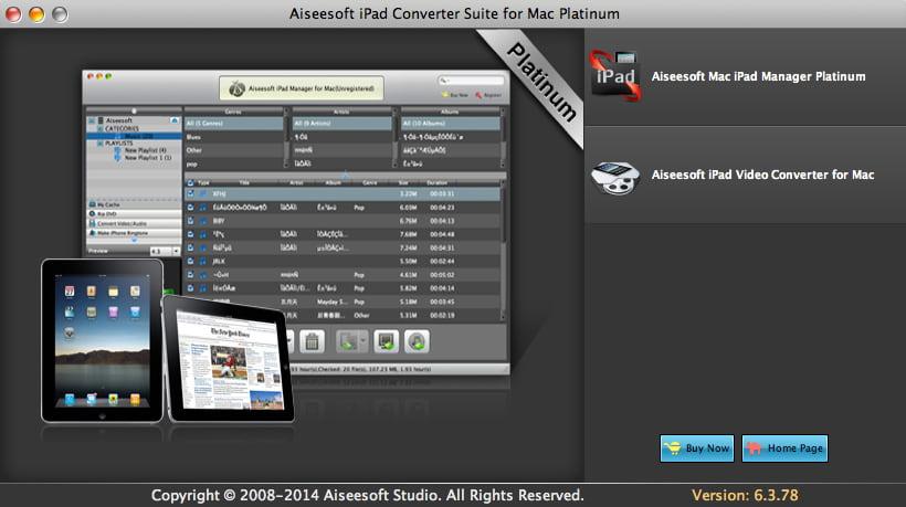 Aiseesoft iPad Converter Platinum Mac 6.3.98 Screen shot