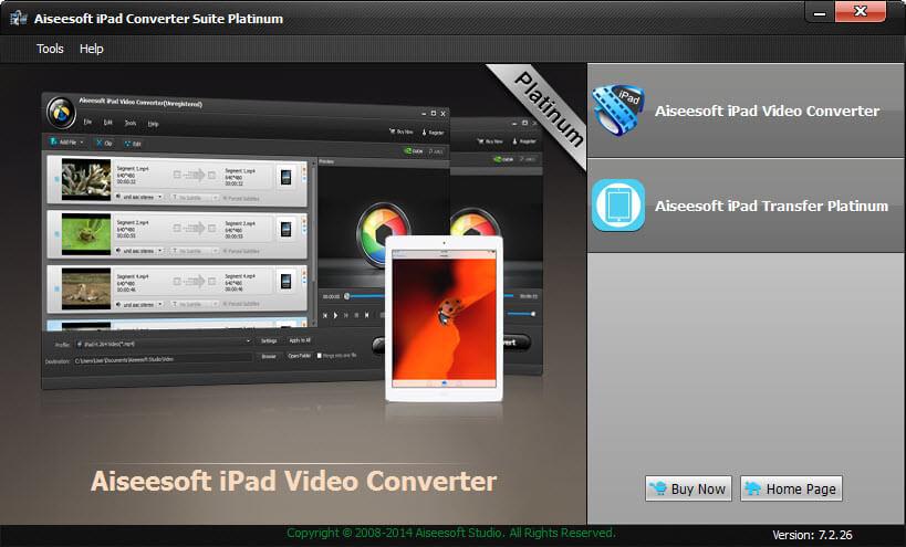 Windows 7 Aiseesoft iPad Converter Suite Platinum 7.2.52 full