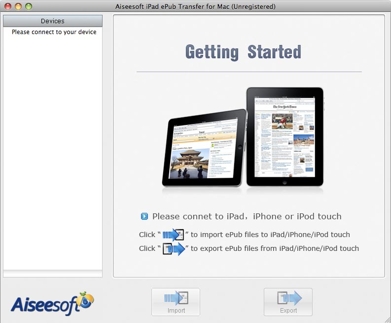 Aiseesoft iPad ePub Transfer for Mac 3.1.12