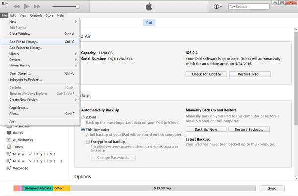 Προσθήκη PDF ePub